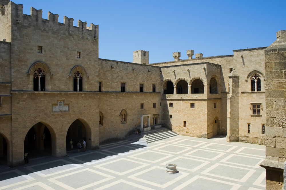 The Palace Of The Grand Master Of The Knights Of Rhodes, Greece